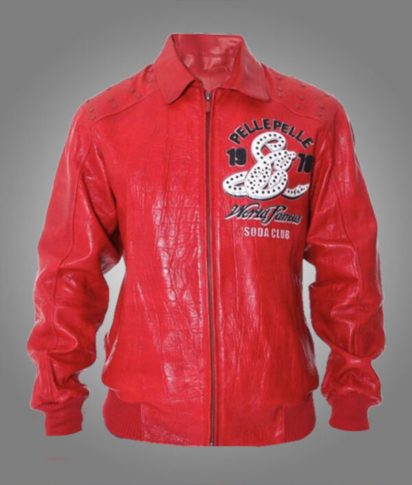 1978 Famous Soda Club Pelle Pelle Red Leather Jacket