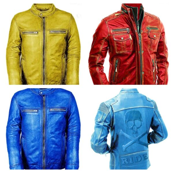 4 motorcycle leather jacket in a discounted rates