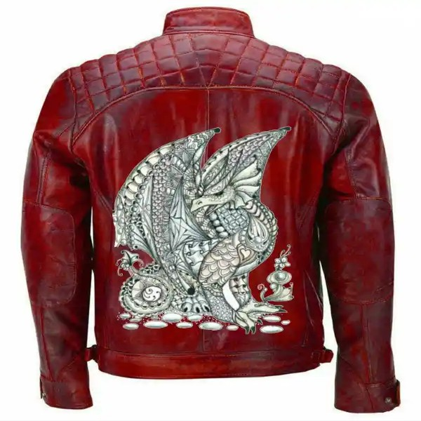 Red Dragon Leather Jacket