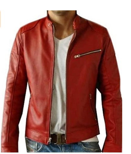 red Casual jacket