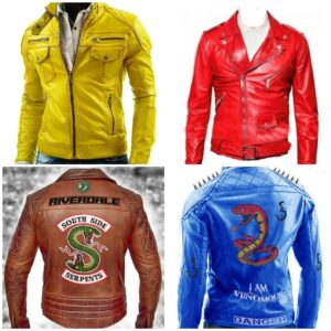 4 Jackets Deal Of Slimfit Leather Jackets