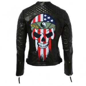 Black Women American Bikers Moto Leather Jacket
