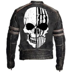too Fast to Live and too young to die leather jacket