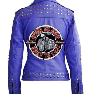 Purple Women Bikers Moto Leather Jacket - leather jackets